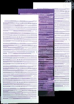 Afbeeldingen van LeCreaDesign® Alfabet stickers mirror violet