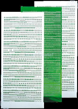 Afbeeldingen van LeCreaDesign® Alfabet stickers mirror green