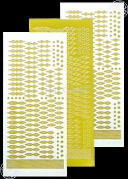 Afbeeldingen van Star Sticker Christmas mirror yellow