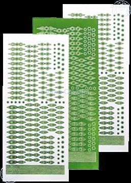 Afbeeldingen van Star Sticker Christmas mirror green