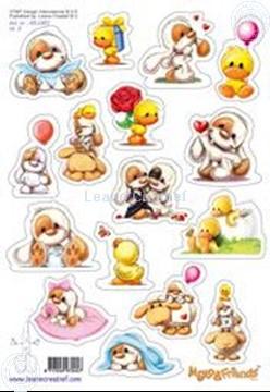 Afbeeldingen van LeCreaDesign® Mylo & Friends® Stickers A5 #3