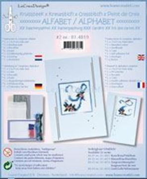 Afbeeldingen van Alfabet kruissteek kaartborduur kit met kraaltjes #2