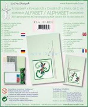Afbeeldingen van Alfabet kruissteek kaartborduur kit met kraaltjes #3