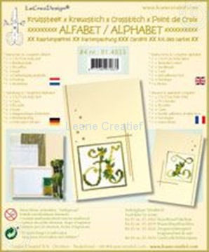 Afbeeldingen van Alfabet kruissteek kaartborduur kit met kraaltjes #4