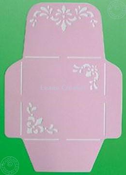 Afbeeldingen van LeCreaDesign® Envelopsjabloon 14,5x14,5cm