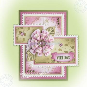 Bild von Fantasy paper flower on frame pink