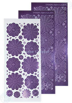 Picture of Nested Flower Peel offs mirror violet