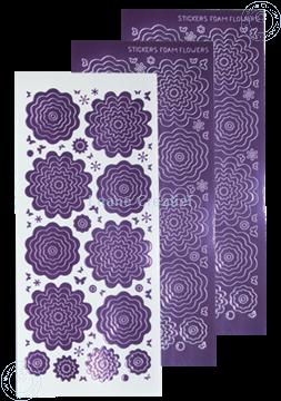 Image de Stickers des  fleurs mirror violet