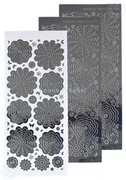 Image de Stickers des  fleurs mirror silver