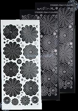 Image de Stickers des  fleurs black silver