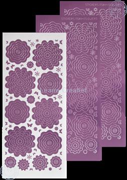 Image de Stickers des  fleurs mirror candy