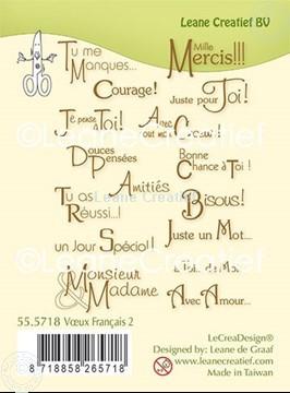 Image de Combi tampon clair Voeux - Texte Français 2.
