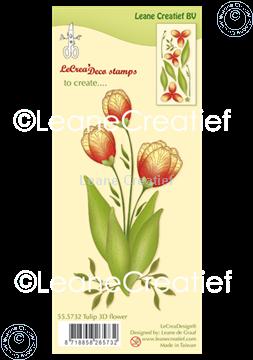 Afbeeldingen van Clear stamp 3D Flower Tulip