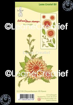 Image de Tampon clair 3D Flower Chrysanthème