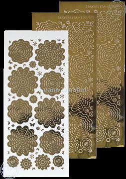 Image de Stickers des  fleurs mirror gold