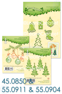 Afbeeldingen van Set Lea'bilitie & Clearstamp Christmas trees & ornaments