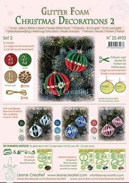 Image de Glitter Foam Boule de Noël décoration Set 2