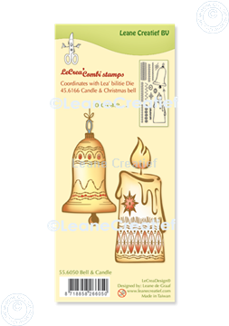 Picture of LeCreaDesign® combi clear stamp Bell & Candle