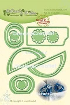 Image de Lea'bilitie® Glitter Foam décoration Cœur bord lisse matrice pour découper