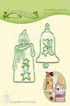 Afbeeldingen van Lea'bilitie® Kaars & Kerstbel  snij en embossing mal