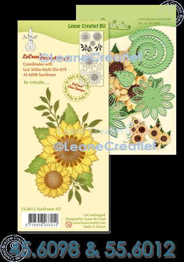 Afbeelding van Multi die & Clearstamp Sunflower 3D