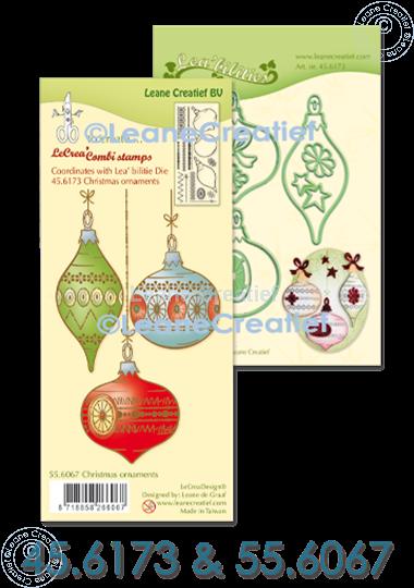 Afbeelding van Set Lea'bilitie & Clearstamp kerstornamenten