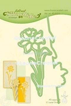 Image de Lea'bilitie® Narcisse silhouette matrice pour découper & gaufrage