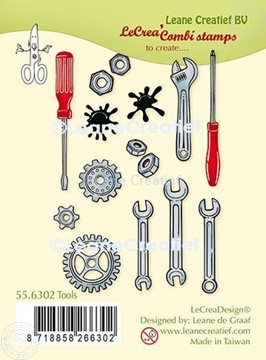 Afbeeldingen van LeCreaDesign® combi clear stamp Gereedschap