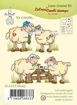 Picture of LeCreaDesign® combi clear stamp Sheep