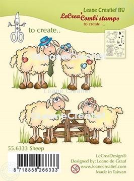 Afbeeldingen van LeCreaDesign® combi clear stamp Schapen