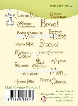 Afbeeldingen van LeCreaDesign® combi clear stamp Franse teksten 3