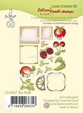 Afbeeldingen van LeCreaDesign® combi clear stamp Thee tijd