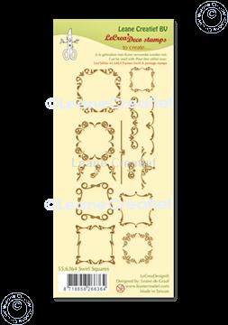 Picture of LeCreaDesign® combi clear stamp Swirl Squares