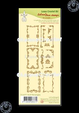 Picture of LeCreaDesign® combi clear stamp Swirl Rectangles