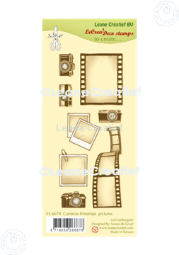 Picture of LeCreaDesign® combi clear stamp Cameras, filmstrips & pictures