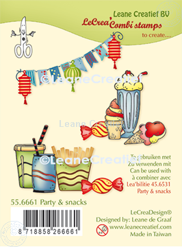 Image de LeCreaDesign® combi tampon clair Party & snacks