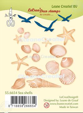 Image de LeCreaDesign® deco tampon clair Coquilles de mer