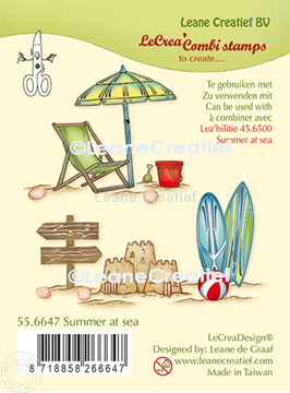 Picture of LeCreaDesign® combi clear stamp Summer at Sea