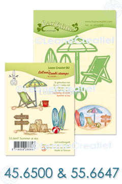 Afbeeldingen van Set Lea'bilitie & Clearstamp Summer at sea