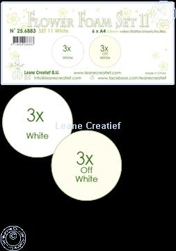 Afbeeldingen van Flower Foam set 11 /6x A4 vel /3x Wit 3x Off wit