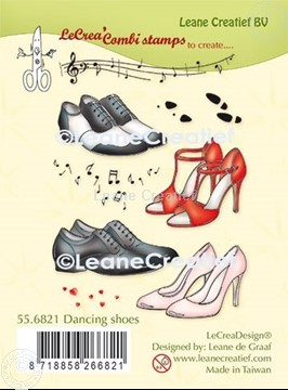 Picture of LeCreaDesign® combi clear stamp dancing shoes