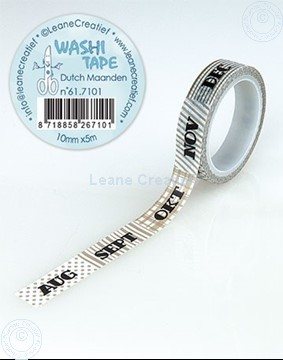 Picture of Washi tape Dutch Maanden, 10mm x 5m.