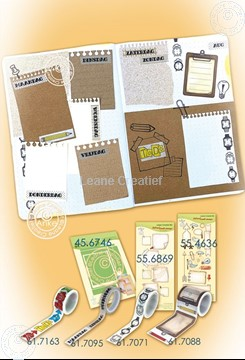 Picture of BJ Notebook die + stamp