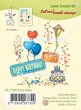 Picture of LeCreaDesign® combi clear stamp Let's party