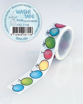 Picture of Washi tape small round Labels, 20mm x 5m.