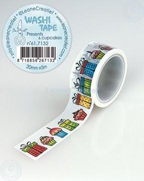 Image de Washi tape Cadeaux & petits gâteaux, 20mm x5m.