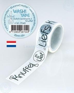 Bild von Washi Tape Niederländische Worten 2. Knuffels 20mm x 5m.
