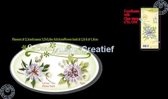 Picture of Lea'bilitie® Multi die 21 Passion flower cut and embossing die
