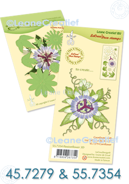 Picture of Set Multi die & Clear stamp Passion flower  3D
