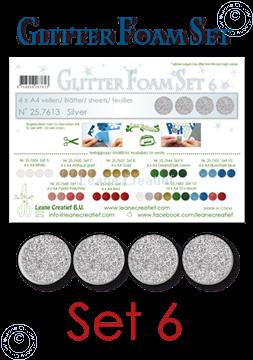Picture of Glitter Foam set 6, 4 sheets A4 Silver